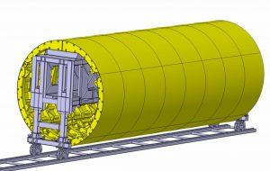 Cốp pha hầm toàn tiết diện- Thiết kế 3D