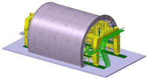 Cốp pha hầm kích thước 24m; l=12m